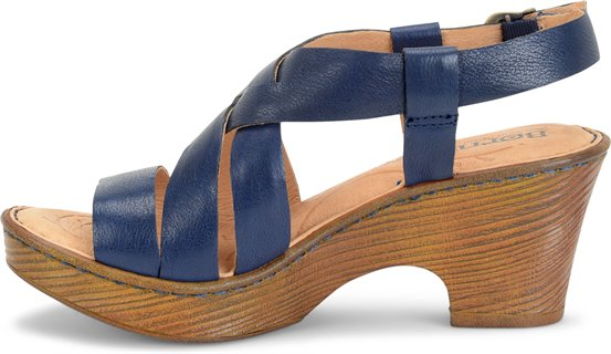 4a2b7688d71 Born Carmo in Navy - Born Womens Sandals on Shoeline.com