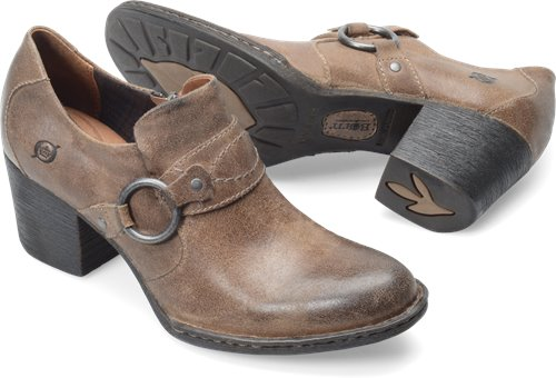 Taupe Distressed Suede Born Tinsley