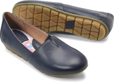 Navy Leather Born Sebra