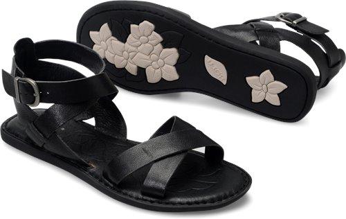 7ce59fc9bd19 Born Kindu in Black - Born Womens Sandals on Shoeline.com