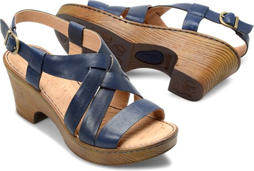 01e1b0161f6c Born Carmo in Navy - Born Womens Sandals on Shoeline.com