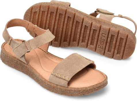 73d5b0540ebe Born Madira in Taupe Suede - Born Womens Sandals on Shoeline.com