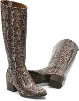 Brown Snake Print Born Audrina