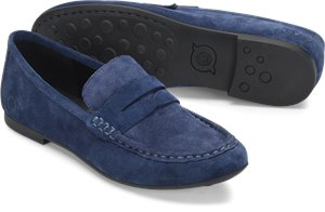Navy Suede Born Barnstable