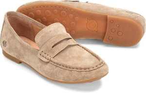 Beige Suede Born Barnstable