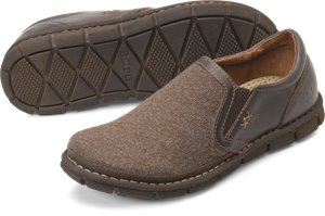 Dark Tan Brown Fabric Born Sawyer