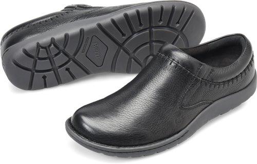 Black Leather Born Nigel Clog