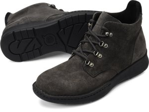 Grey Black Suede Combo Born Evros