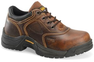 Dark Brown Carolina Womens Steel Broad Toe Oxford