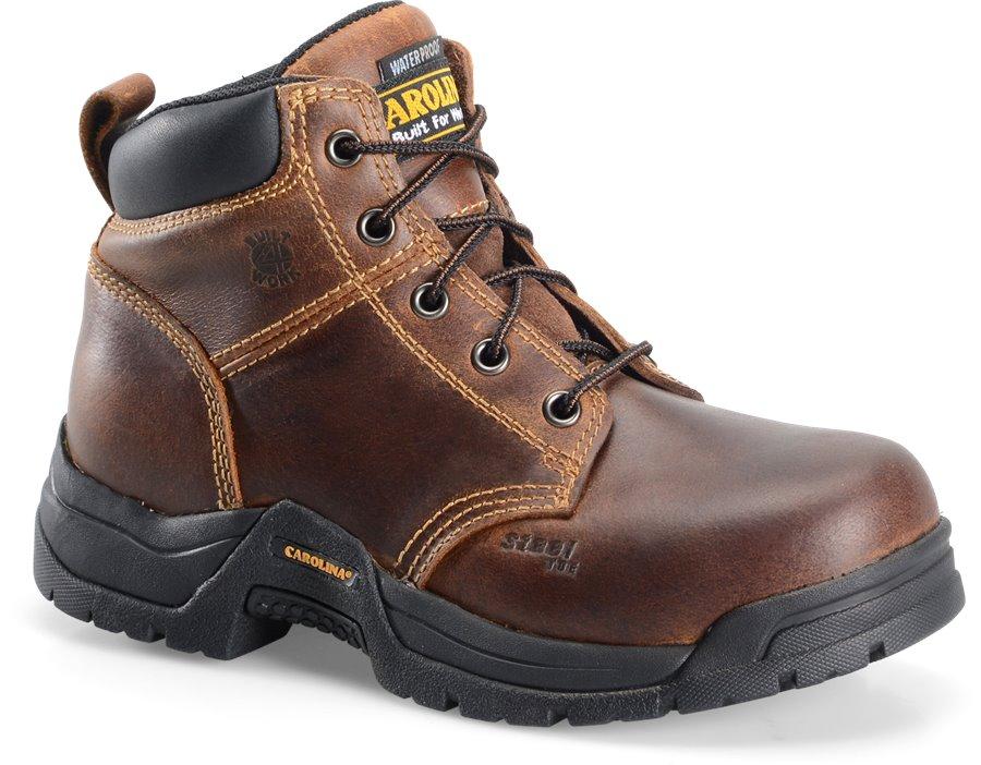 Carolina 6  Waterproof Broad Steel Toe Work Boot : Borris Tan - Womens