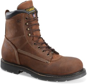 Dark Brown Carolina 8 In Domestic Unlined Composite Toe Work Boot