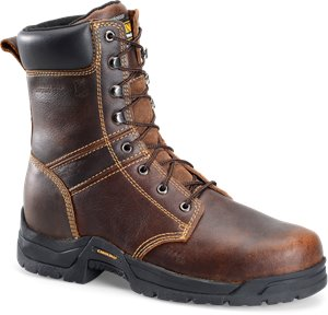 Dark Brown Carolina 8 Inch Broad Steel Toe Work Boot