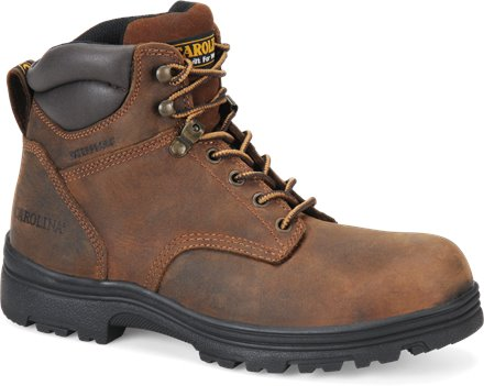Dark Brown Carolina 6 IN Plain Toe WP
