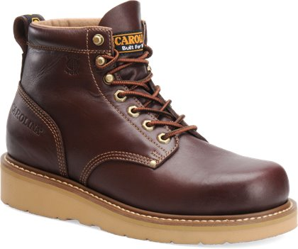 Dark Oak Carolina 6 Inch Broad Toe Wedge Work Boot