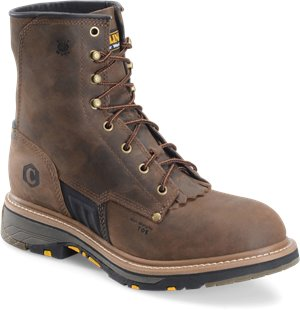 Dark Brown Carolina 8 In Workflex Unlined Work Boot