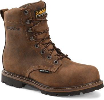 Dark Brown Carolina 8 Waterproof Work Boot