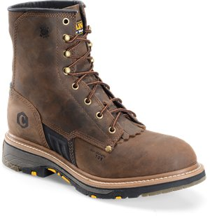 Dark Brown Carolina 8 In Workflex Unlined Ice Breaker Outsole