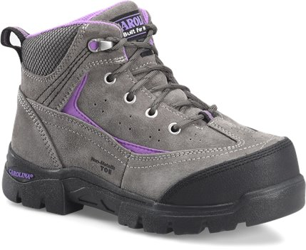 Grey Suede Carolina Womens 5 Inch Comp Toe Internal Metguard Hiker