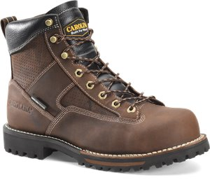 Dark Brown Carolina Mens 6in Lace-To-Toe WP Soft Toe Hiker