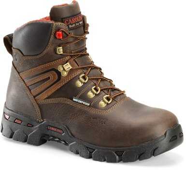 Dark Brown Carolina 6 In Comp Toe Broad Toe Hiker
