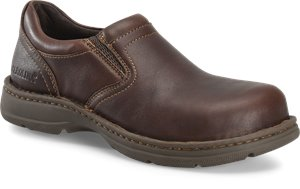 Dark Brown Carolina Mens ESD Aluminum Toe Opanka Slip On