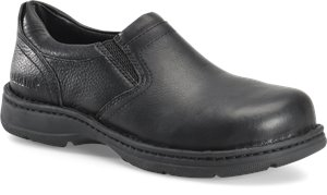 Black Carolina Mens ESD Aluminum Toe Opanka Slip On