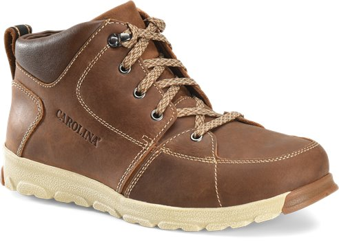 Neutral Mahogany Carolina Mens Lightweight ESD Aluminum Toe Hiker