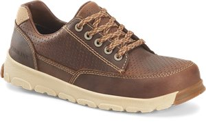 Dark Brown Carolina Womens Lightweight ESD Aluminum Toe Oxford