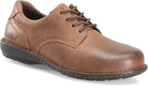 Dark Brown Carolina Womens Aluminum Toe Opanka Oxford