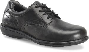 Black Carolina Womens Aluminum Toe Opanka Oxford