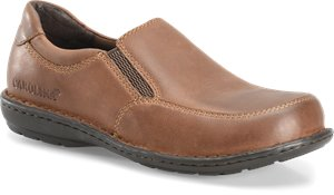 Dark Brown Carolina Womens Aluminum Toe Opanka Slip On