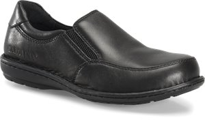 Black Carolina Womens Aluminum Toe Opanka Slip On