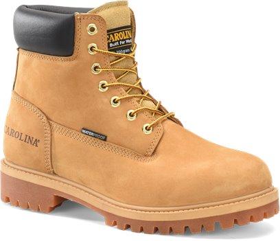 Light Beige Carolina Mens 6 in WP 200G Wheat Boot