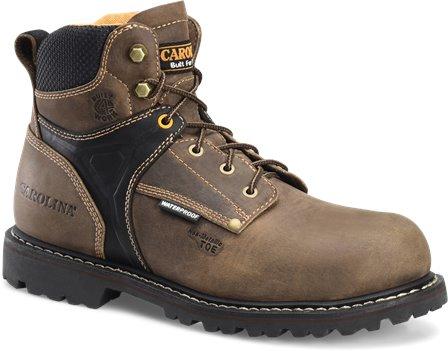 Dark Brown Carolina 6 Inch Comptoe WP Work Boot