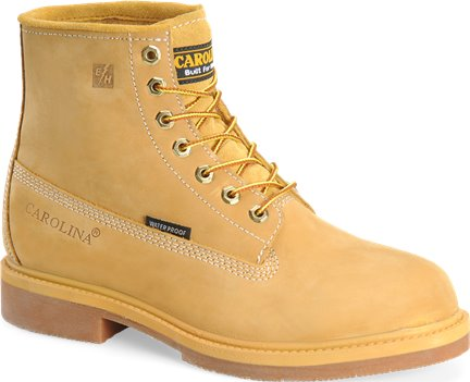 Wheat Carolina 6 Inch Smooth Sole Waterproof Steel Toe