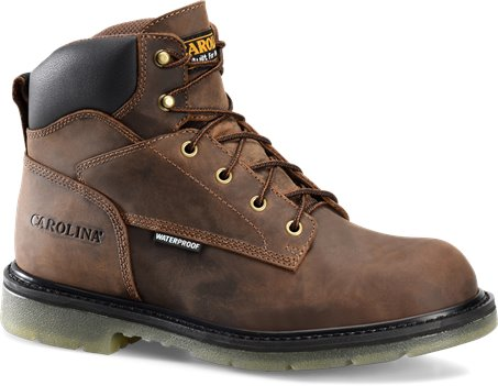 Tan Crazy Horse Carolina 6 Inch Soft Toe Grizzly WP EH Boot