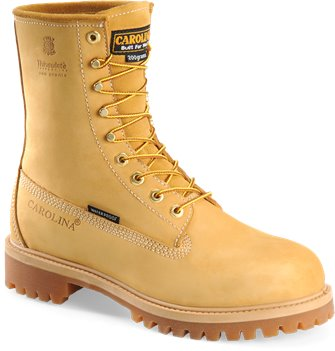 Light Brown Carolina 8 Inch Waterproof Wheat Work Boot