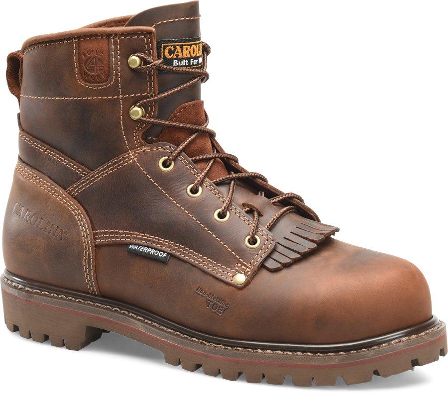 Carolina 6 Inch Waterproof Comp. Toe : Cigar Brown - Mens