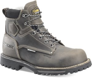 Gray Black Carolina 6IN WATERPROOF COMP TOE WORK BOOT