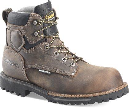 Gray Black Carolina Mens 6in WP 600G Comp Toe Work Boot