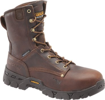 Dark Brown Carolina 8 Inch Waterproof Work Boot