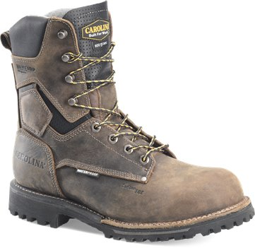 Gray Black Carolina Mens 8 Inch WP 800G Soft Toe Work Boot
