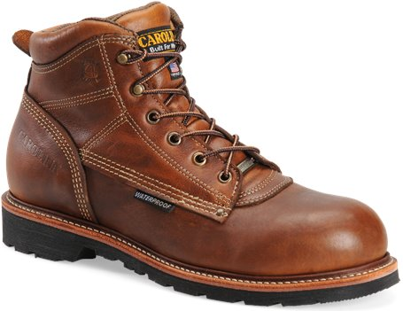 Tobacco Carolina 6 Inch Domestic Waterproof Work Boot