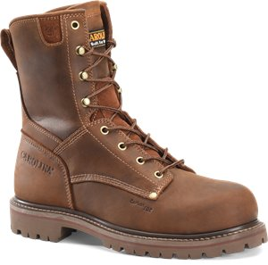 Dark Brown Carolina Mens 8 Inch Unlined Comp Toe Work Boot