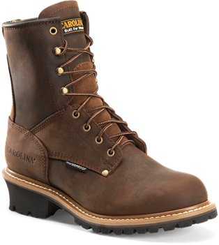 Dark Brown Carolina 8 Inch Plain Non-Steel Toe Logger