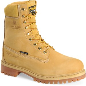 "Wheat Carolina 8"" Insulated Waterproof Work Boot"