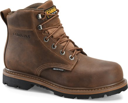 Dark Brown Carolina 6IN WP PLAIN TOE