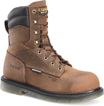 Tan Crazy Horse Carolina 8 Inch Comp Toe Grizzly WP EH Boot