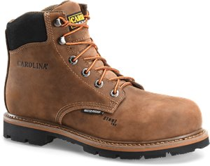 Dark Brown Carolina 6 Inch Steel Toe Waterproof Work Boot