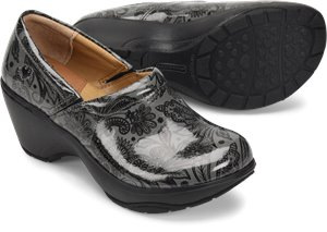 Black/Grey Patent PU Nurse Mates Bryar